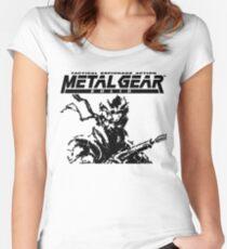 Metal Gear Solid: Ghost Babel - Title Screen Pixel Art  Women's Fitted Scoop T-Shirt
