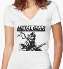 Metal Gear Solid: Ghost Babel - Title Screen Pixel Art  Women's Fitted V-Neck T-Shirt