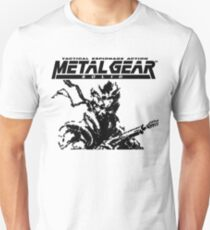 Metal Gear Solid: Ghost Babel - Title Screen Pixel Art  Unisex T-Shirt