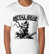 Metal Gear Solid: Ghost Babel - Title Screen Pixel Art  Long T-Shirt