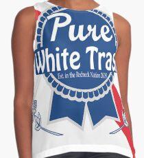 Pure White Trash Contrast Tank
