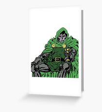 Dr DOOM  Greeting Card
