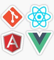 Git React Angular Vue Aufkleber Packung Sticker