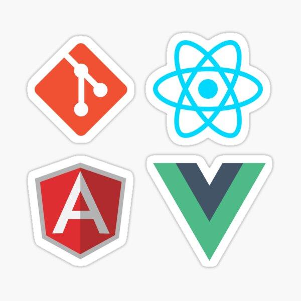 Git React Angular Vue sticker pack Sticker