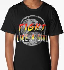 Fight like a girl...Mortal Kombat Long T-Shirt