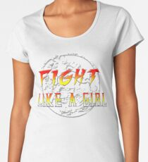 Fight like a girl...Mortal Kombat Women's Premium T-Shirt