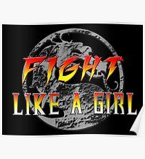 Fight like a girl...Mortal Kombat Poster