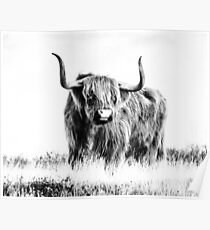 Bull print, Animal, Nature, Scandinavian print, Scandinavian, Nordic, Trendy print, Styled, Scandinavian art, Modern art, Wall art, Print, Minimalistic, Modern Poster
