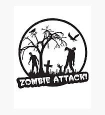 Zombie Attack! Photographic Print