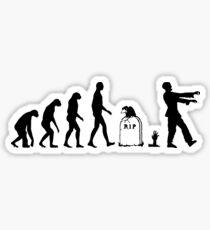 Evolution Zombie Sticker