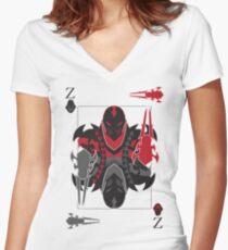 Zed Of Shurikens Women's Fitted V-Neck T-Shirt