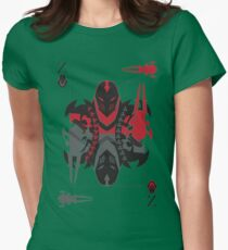 Zed Of Shurikens Womens Fitted T-Shirt
