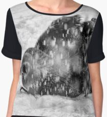 Grizzly Bear Frolicking in a snowstorm Chiffon Top