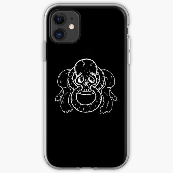 Infinity Skull - White iPhone Soft Case