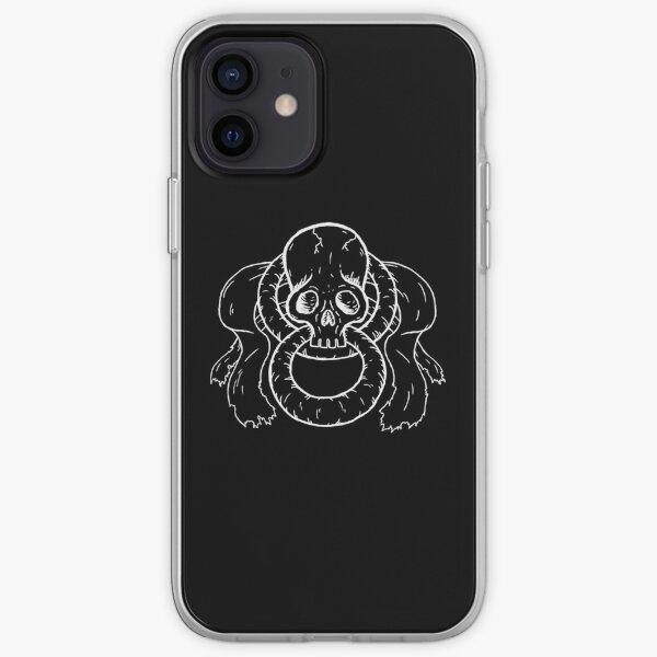Infinity Skull - White iPhone Soft Case