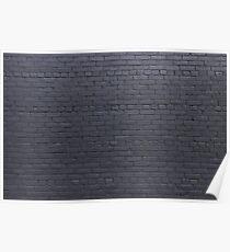 Black  brick wall Poster