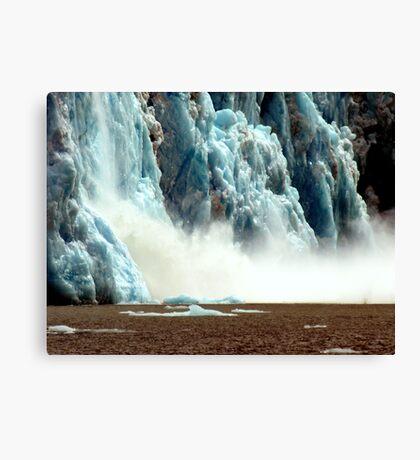 Glacier meltdown Canvas Print