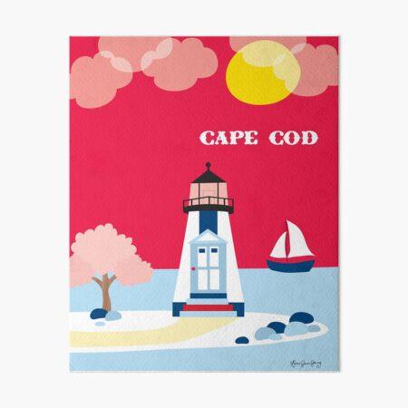 Cape Cod, Massachusetts - Skyline Illustration by Loose Petals Art Board Print