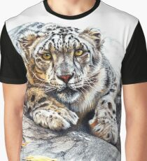 Snow Leopard, Ethereal Spirit Graphic T-Shirt
