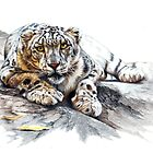 Snow Leopard, Ethereal Spirit by Peter Williams