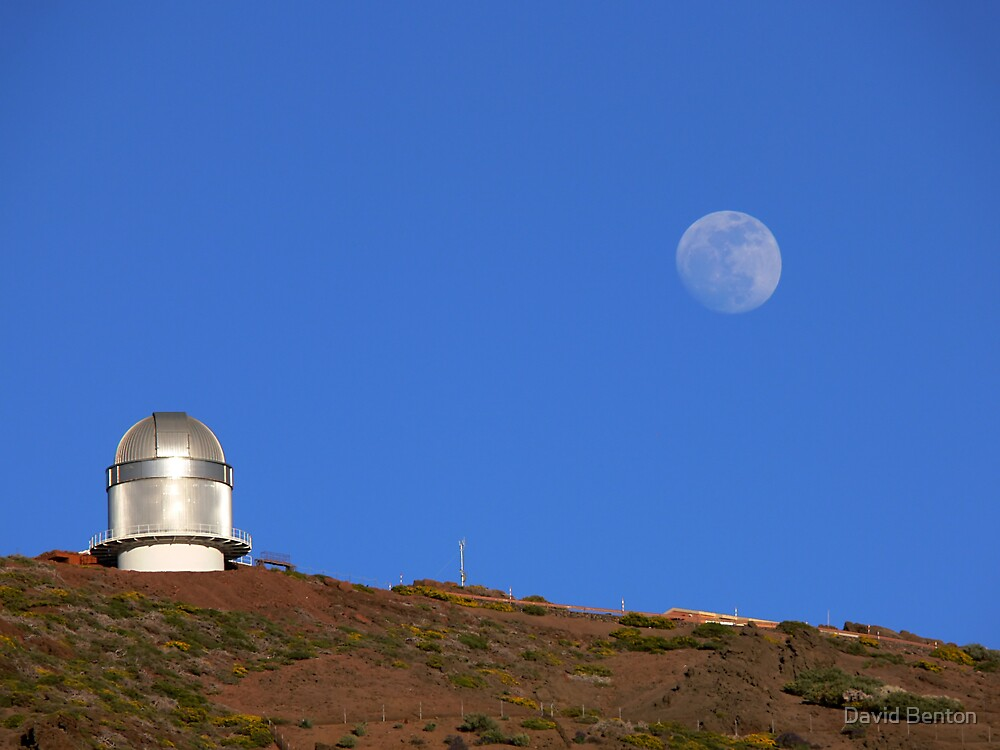 Moonrise over La Palma by David Benton