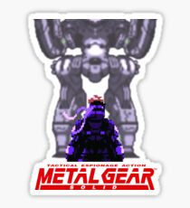 Metal Gear Solid: Ghost Babel - Snake vs Metal Gear Pixel Art Sticker