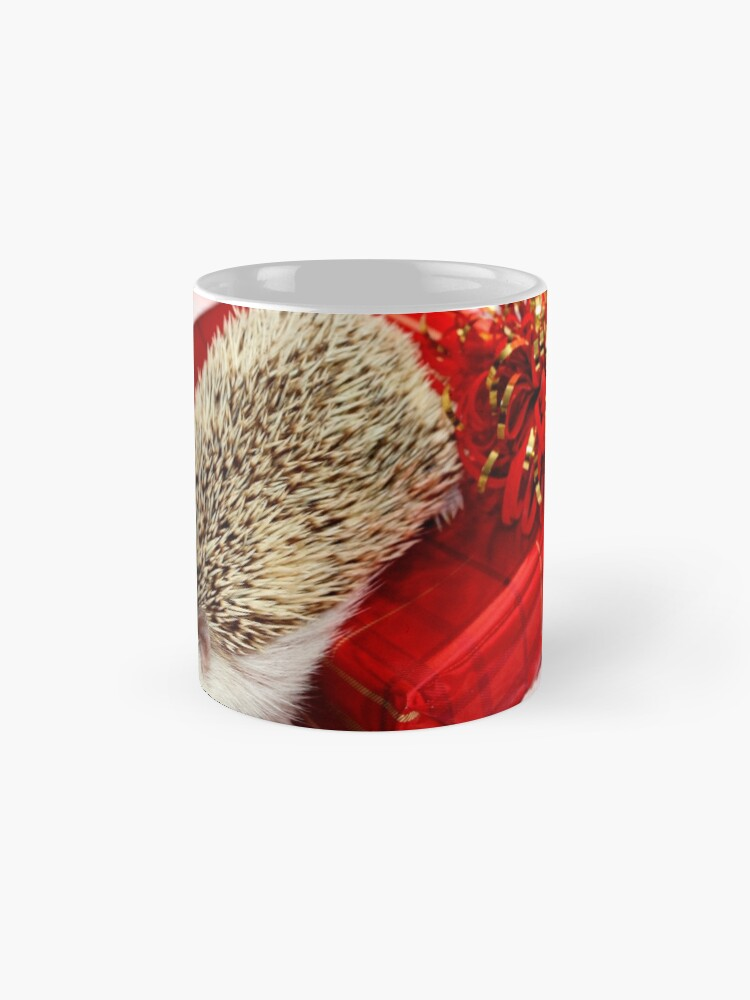 Alternate view of Forest the Christmas Hedgehog Mugs
