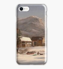 Jasper Francis Cropsey - Winter Scene - Ramapo Valley, 1853 iPhone Case/Skin