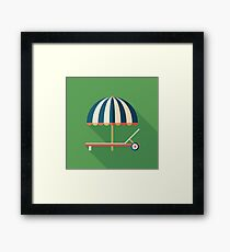 Parasol and Sunbed Framed Print