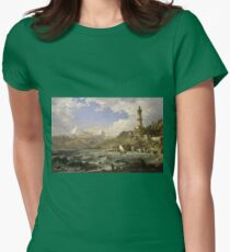 Jasper Francis Cropsey - The Coast Of Genoa Womens Fitted T-Shirt