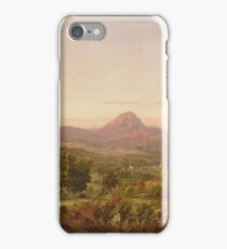 Jasper Francis Cropsey - Autumn Landscape, Sugar Loaf Mountain, Orange County, New York iPhone Case/Skin