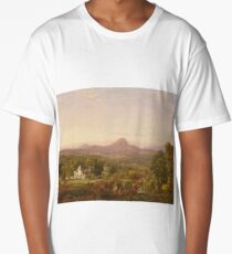 Jasper Francis Cropsey - Autumn Landscape, Sugar Loaf Mountain, Orange County, New York Long T-Shirt