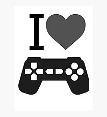 I Love Gaming Photographic Print