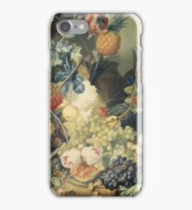 Jan Van Os - Still Life With Flowers, Fruit And Birds iPhone Case/Skin