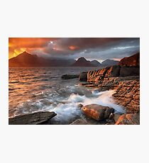Elgol Stormy Sunset Photographic Print