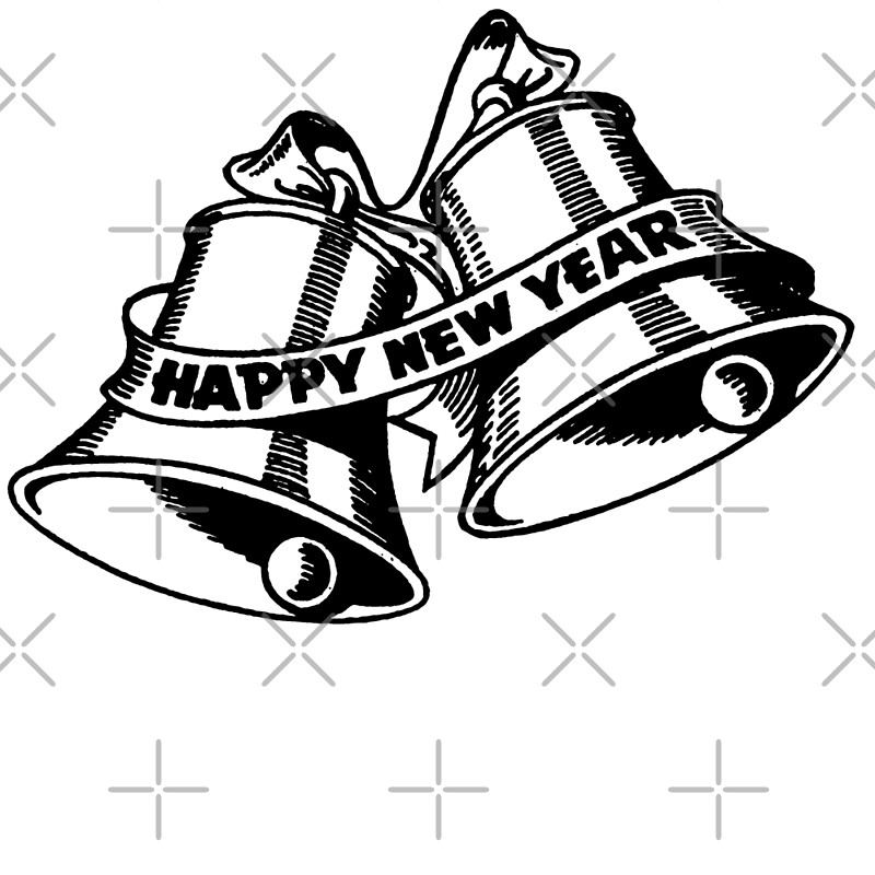 Quot happy new year bells posters by cartoon redbubble