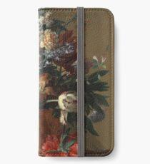 Jan Van Huysum - Vase Of Flowers iPhone Wallet/Case/Skin