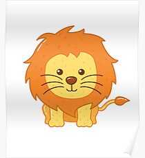 Cute Lion for Kids Poster