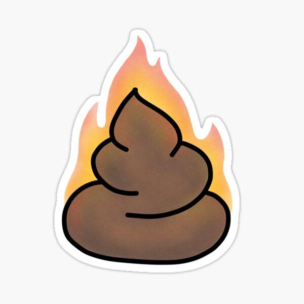 Fire Poop Sticker