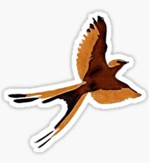 Artistic swallow bird Sticker