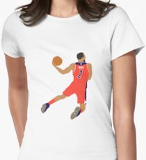 John Wall Dunk Womens Fitted T-Shirt