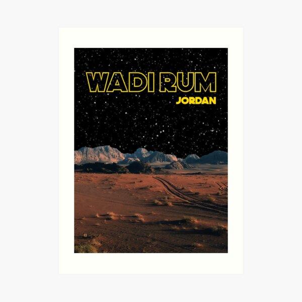 Wadi Rum Jordan Desert Photography Star Wars Edit Art Print