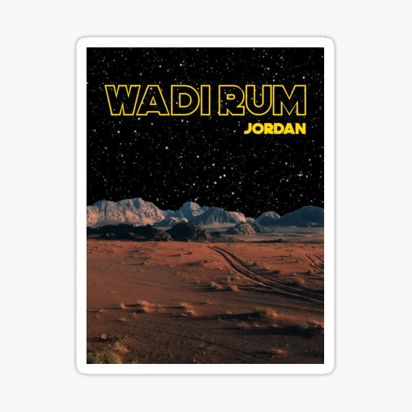 Wadi Rum Jordan Desert Photography Star Wars Edit Sticker