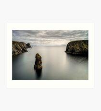 Glencolmcille sea stacks Art Print