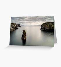 Glencolmcille sea stacks Greeting Card