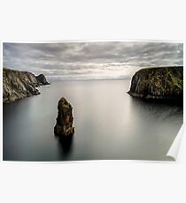 Glencolmcille sea stacks Poster