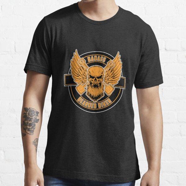 Badass Bearded Biker V2 Essential T-Shirt
