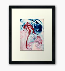 Milky Ink Framed Print