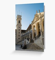 The ancient University of Coimbra Portugal Greeting Card