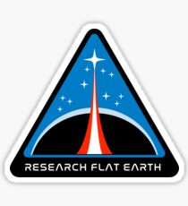 Flat Earth Designs - RESEARCH FLAT EARTH Sticker